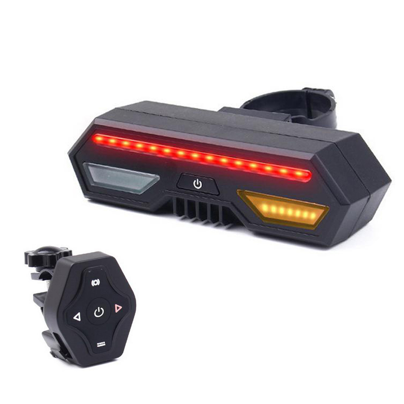 Wireless Remote Control Bike USB Charging Turn Signal Light Brake Warning Bicycle Lights Bicycle Accessories