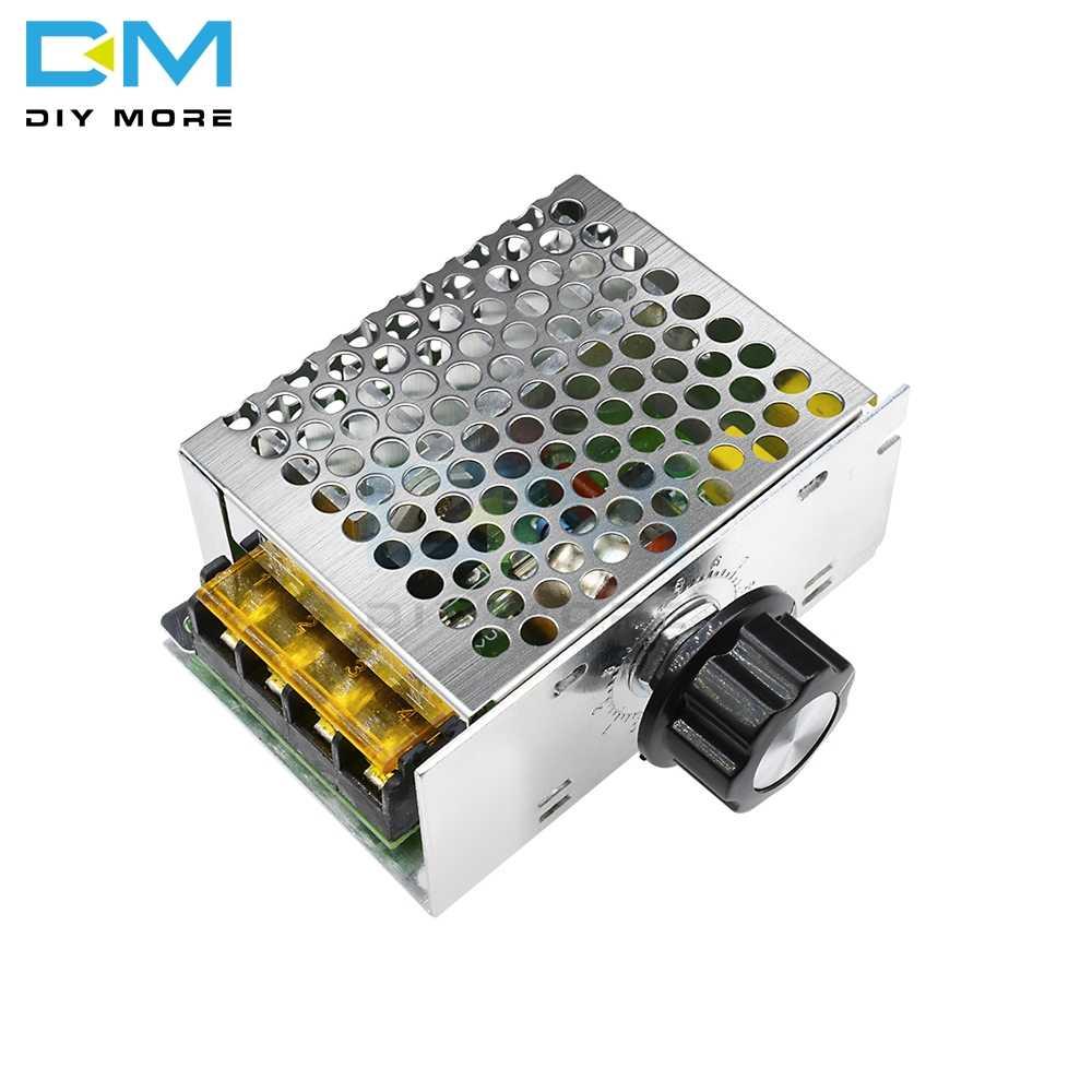 4000W 220V AC SCR Regulator prędkości silnika moduł Regulator napięcia ściemniacz anti-spike Surge RC absorpcja (EOC) pokrętło pokładzie DIY KIT