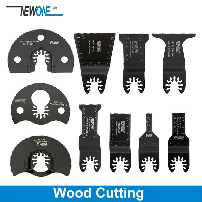 NEWONE Quick Release Wood Cutter Quick Change Oscillating Multi Tool Saw Blade For Renovator Power Tool Black Decker Dewalt