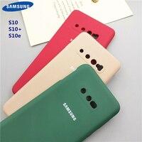 Custodia per telefono S10 Plus per Samsung Galaxy S10 + S10E S10 custodia protettiva in Silicone stile Soft-Touch setoso protezione completa