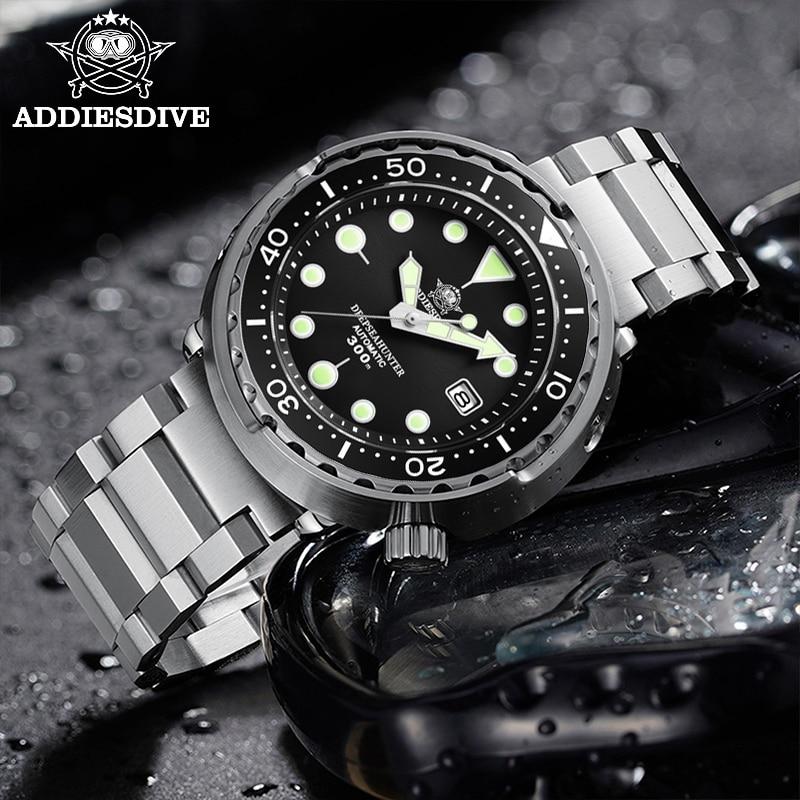 Addies Dive Men's Automatic Watch NH35A Sapphire Crystal Ceramic bezel BGW9 Luminous 30bar steel Tuna diver Men watch watches 3