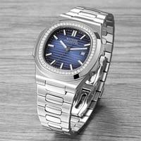 Hot top luxury brand watch men automatic mechanical watch stainless steel luminous hand patek watch AAA nautilus 2019 WOTESEN