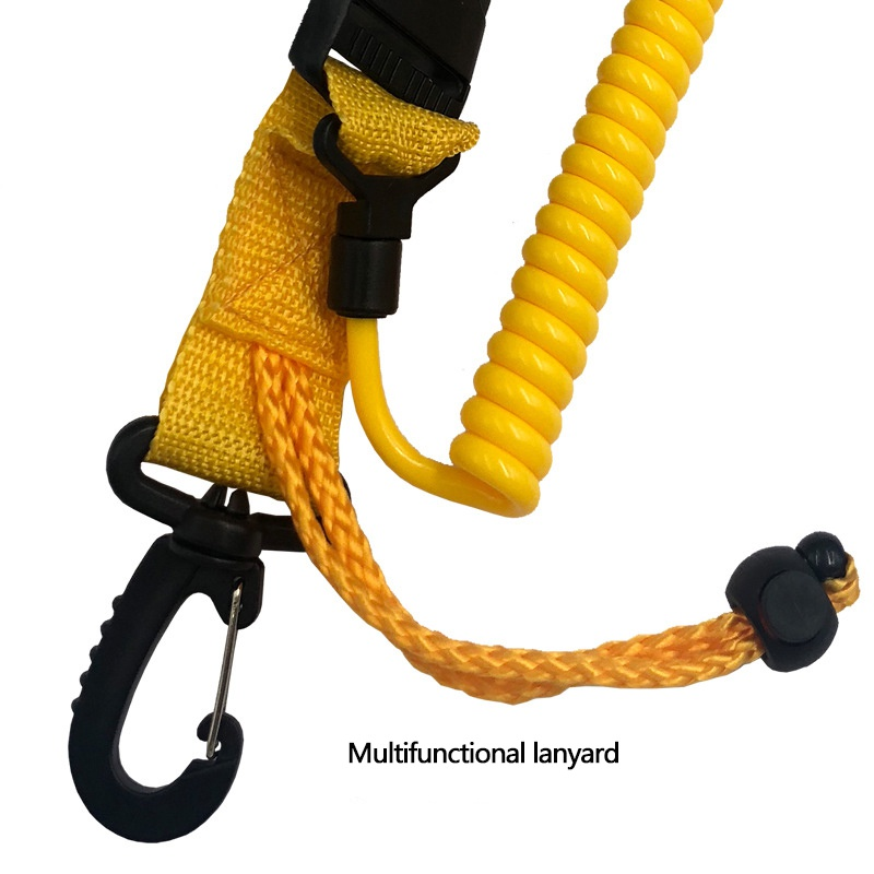 Release Buckles Diving Cameras Diving Lanyard With Buckle Clips Diving Shark Coil Lanyard With Snaps And Quick