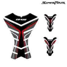 For HONDA CB400 CB 400 Tankpad 3D Carbon look Motorcycle Tank Pad Protector Stickers