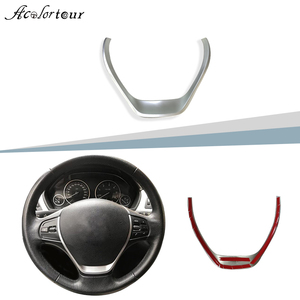 Image 1 - ABS chrome steering wheel sticker cover trim middle badge interior accessories for BMW 3 Series F30 F20 F34 3GT 1 series 320i 32