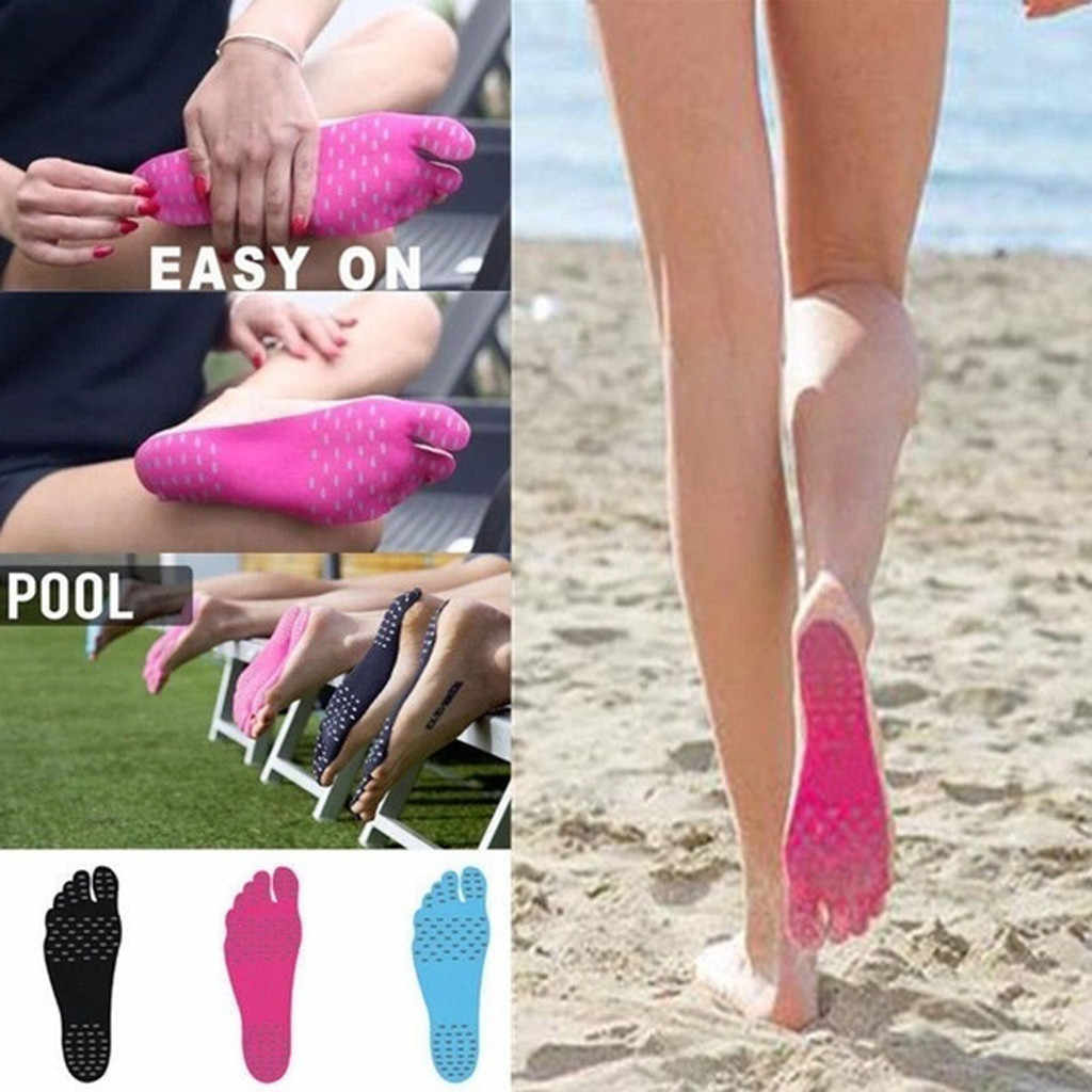 1 Paar Onzichtbare Schoenen Strand Inlegzolen Waterdichte Sport Voet Pad Voet Sticker Zool Flexibele Voet Bescherming Sokken Pad #3
