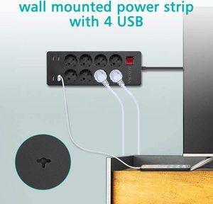 Image 5 - Несколько Мощность полосы Стабилизатор напряжения 4/6/8 способ розетками переменного тока EU электрическая розетка с USB Зарядное устройство адаптер 1,5 м кабель удлинитель