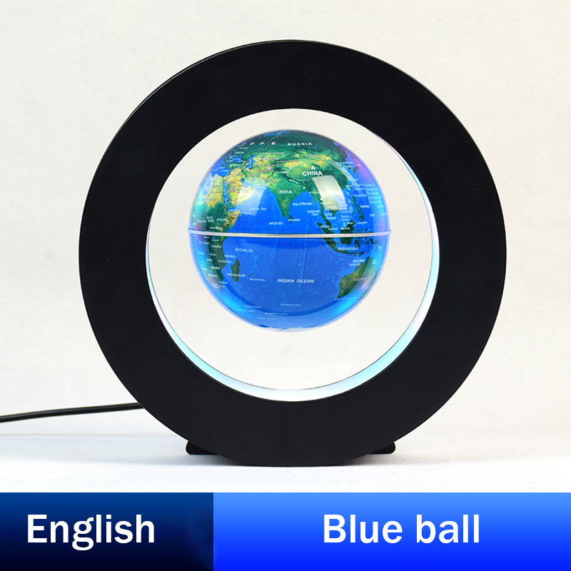 Magnetic Levitation Globe 3 Inch Circular Instrument Creative Ornaments Birthday Gifts Children's New Strange Teaching Equipment