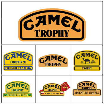 Car Stickers Decor Motorcycle Decals Camel Trophy Decal Decorative Accessories Creative Sunscreen Waterproof PVC,13cm*7cm