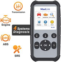 Autel MaxiLink ML629 Enhanced CAN OBD2 Scanner With ABS SRS Transmission Engine Diagnosis Auto VIN Scan Tool Turn Off Lights