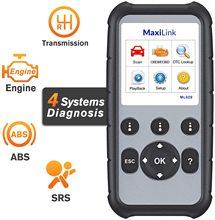 Autel herramienta de diagnóstico de motor MaxiLink ML629, escáner CAN OBD2 mejorado con transmisión ABS SRS, VIN, apagado de luces