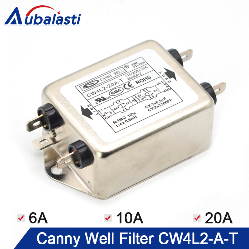 CANNY WELL CW4L2-20A-T EMI Power Filter Single-phase Double-section Power Filter CW4L2-10A -T CW4L2-6A -T