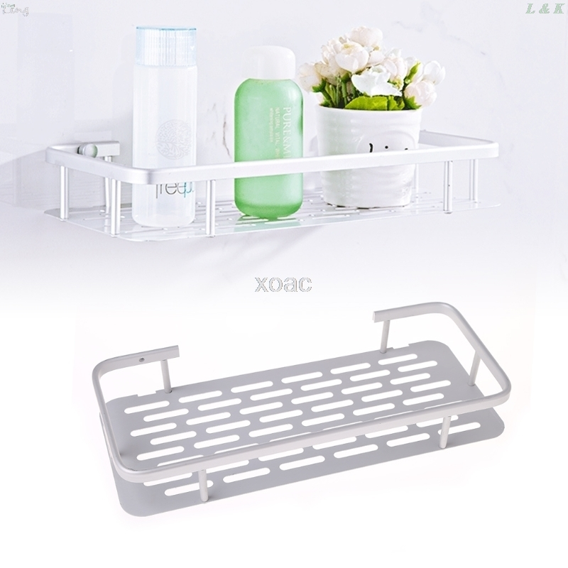 Space Aluminum Bathroom Shelf Shower Shampoo Soap Cosmetic Shelves Bathroom Accessories Storage Organizer Rack Holder M13