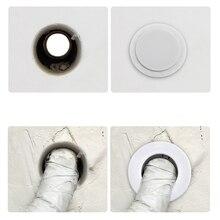 1 шт. декоративная крышка для кондиционера, отверстия для труб, заглушка для стен, белый пластик для отверстия для труб, декоративное покрытие, экранирование