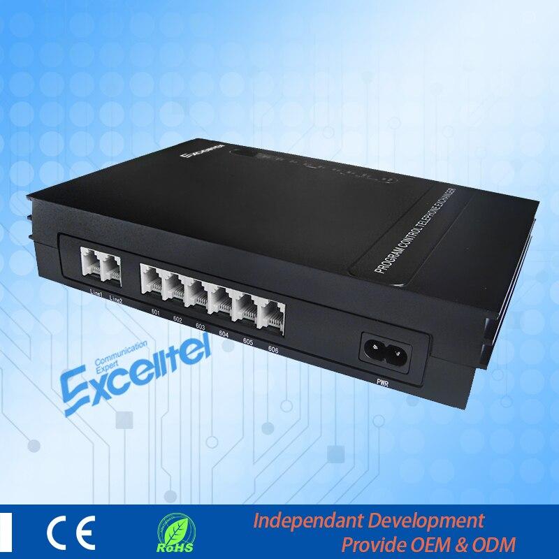 EXCELLTEL PABX système MD206 système téléphonique de bureau PBX 2 CO ligne et 6 extensions - 3