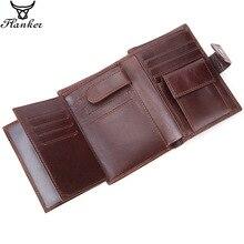 フランカー本物の牛革メンズショート財布コインポケットファッションブランド男ハスプ財布スプライスデザイナーカードホルダーマネーバッグ