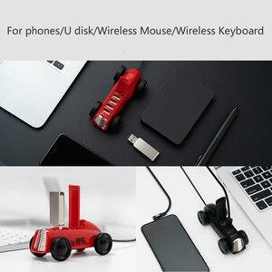 Image 3 - Xiaomi Bcase adaptador expansor de concentrador USB 2,0, diseño Vintage para coche, 4 puertos, Hab para teléfono/disco U/ratón inalámbrico/carga USB