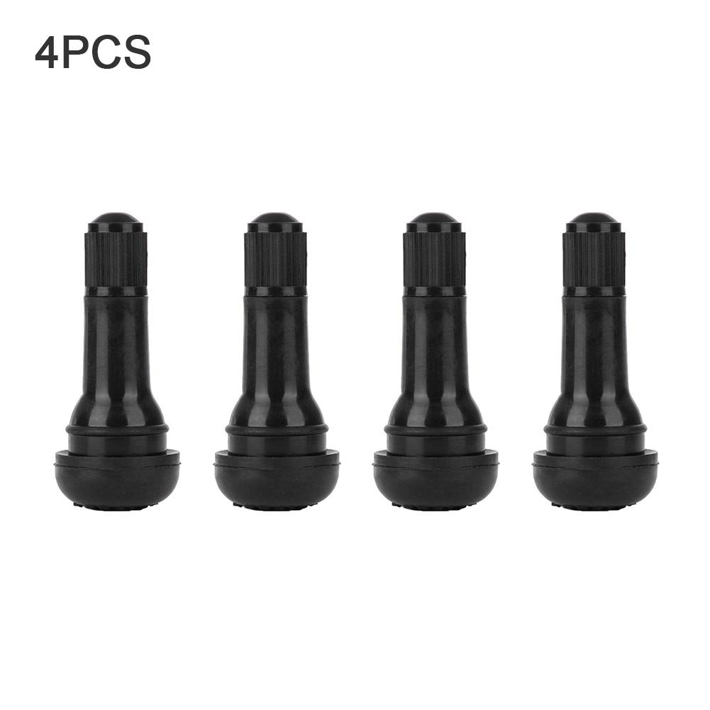 4pcs TR413 Car Valve Snap In Rubber Tubeless Pneumatic Valve Cover Wheel Stem Rod Nozzle Rim Hole 16mm Car Tire Wheel Accessorie