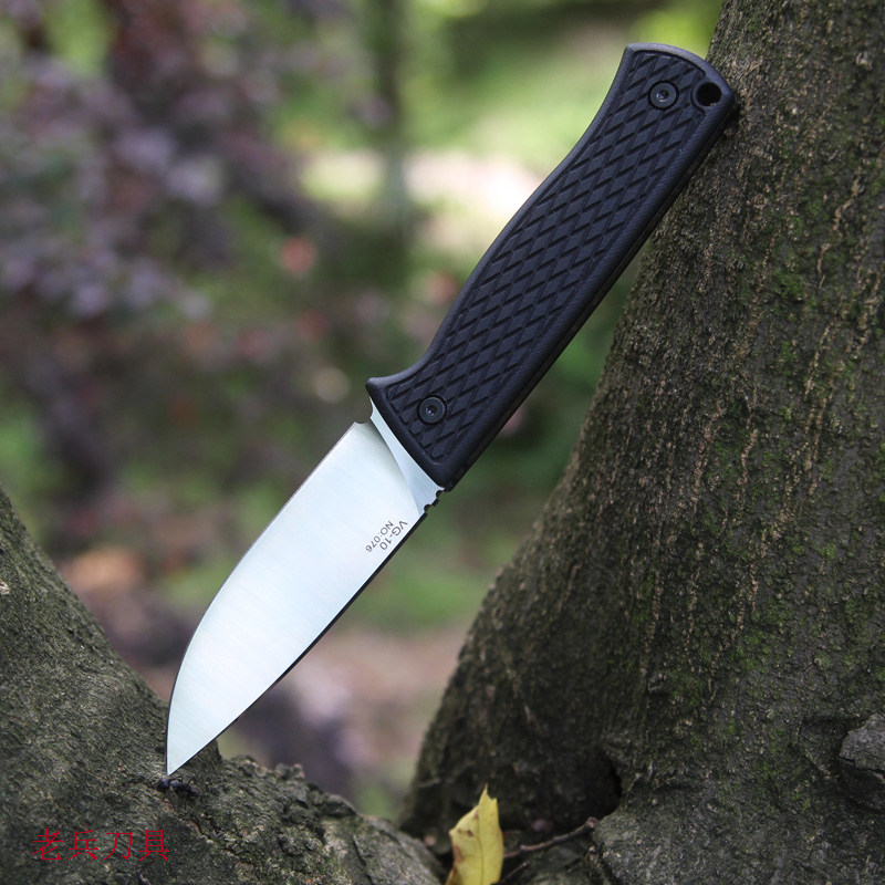 Mack Walker Small Fixed Blade Knife Straight Blade Knife VG10 Blade  With Knife Sheath Camping Self-defense   Hunting Tool