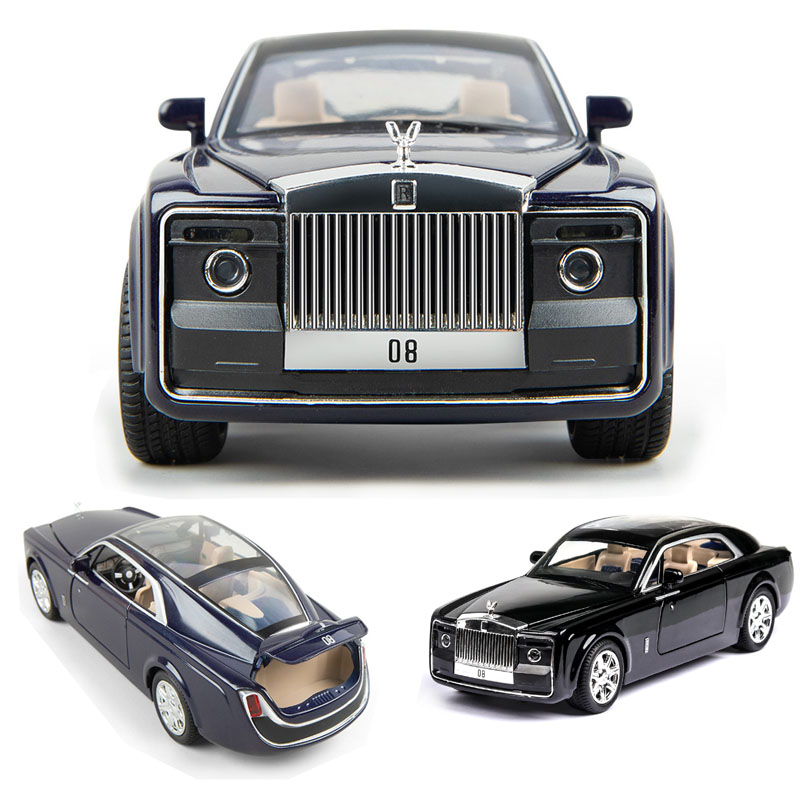 1:24 Rolls Royce  Car Model Metal Model Car Alloy Die-casting Car Children's Toy Gift Collectibles Free Shipping