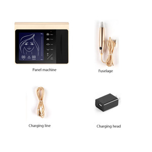 Image 5 - חדש מגע מסך קבוע איפור מכונת ערכת גבות שפתיים אייליינר מכונת עם 50pcs מחסנית Neeldes נטענת סוללה
