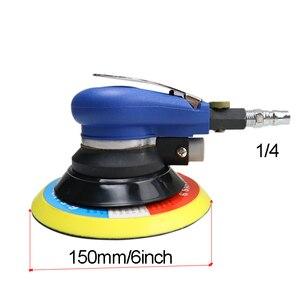 Image 5 - 5/6 인치 비 진공 매트 표면 원형 공압 사포 무작위 궤도 공기 샌더 연마 그라인딩 머신 핸드 툴