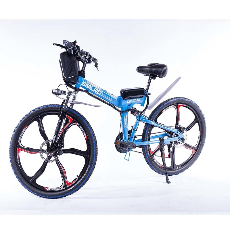 "26"" Folding Electric Bike Shimano 7 Speed E-Bike 48V Lithium Battery 350W 13AH Motor Electric Bicycle for Adults 1"