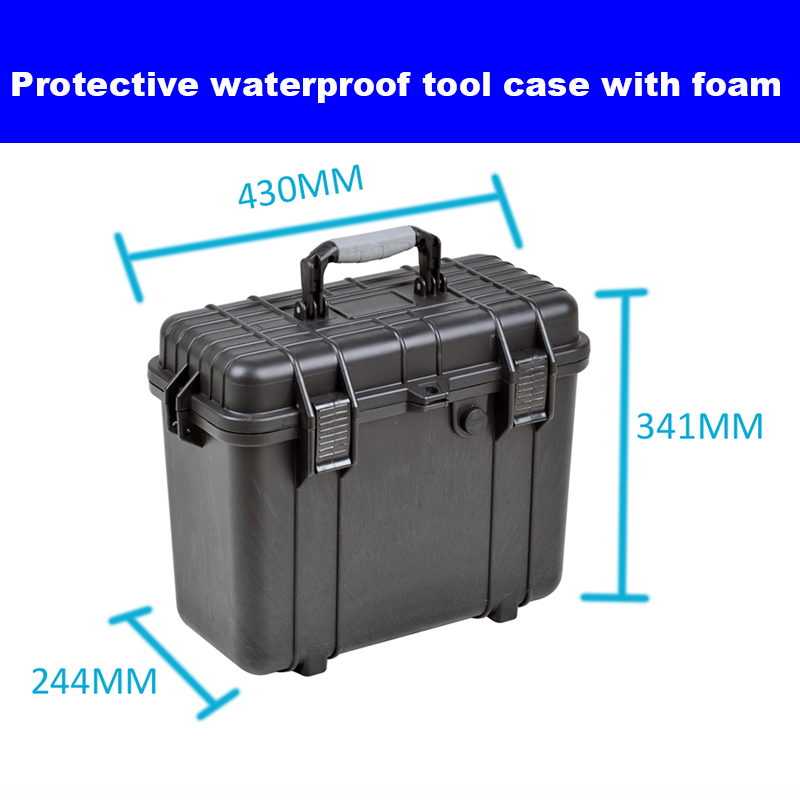 Valigia per cassetta degli attrezzi Valigia per attrezzi in plastica impermeabile resistente agli urti Scatola per attrezzatura Scatola per fotocamera Scatola per misuratore con schiuma pretagliata