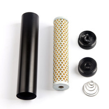 New Fuel Filter For Napa 4003 WIX 24003 5/8-24 Turbo Air 1/2 Bore Billet Aluminum Low Profile 5
