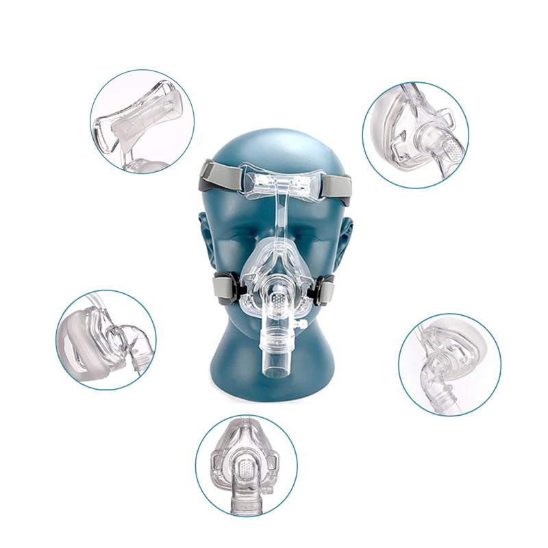 Full Face CPAP Mask Auto with Adjustable Headgear Strap Clip for Sleep Apnea Patient 27
