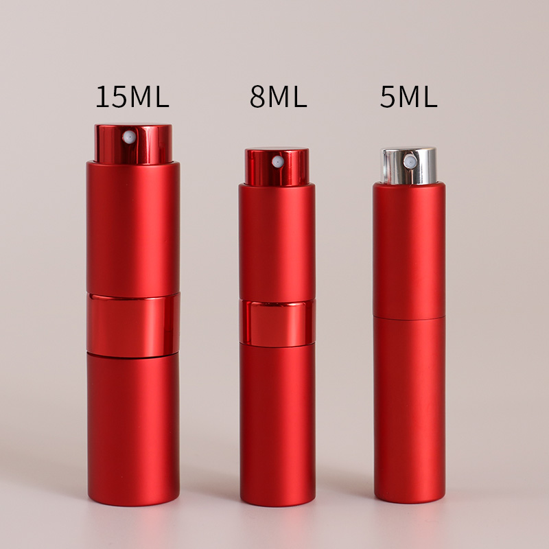 5ml-15ML Portable Small Reusable Rotary Perfume Spray Bottle, Perfume Pump, Empty Cosmetic Container, Travel Spray Bottle.
