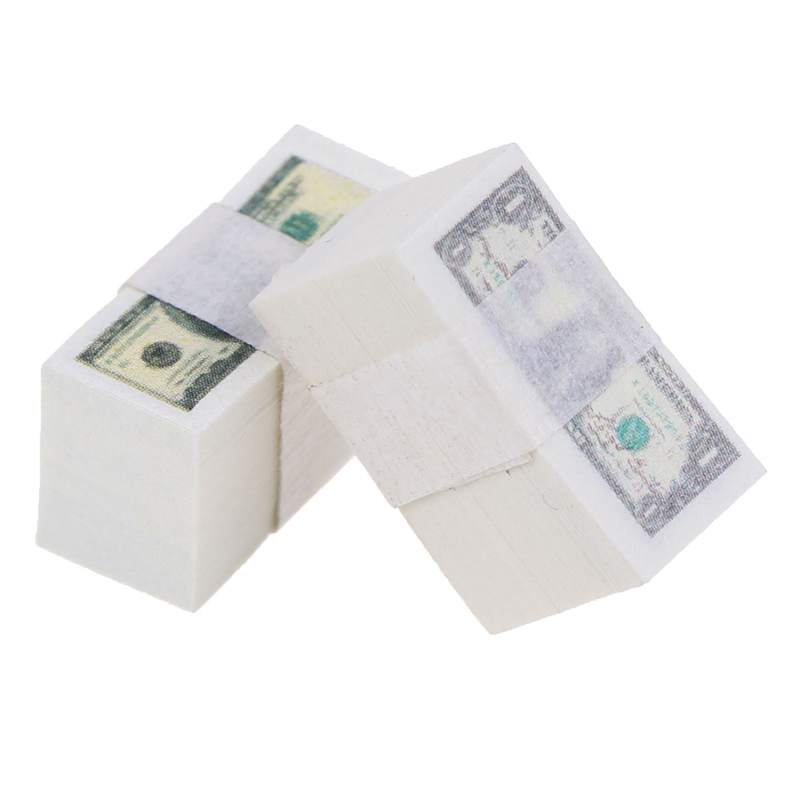 1/12 Scale A Bundle Miniature Play Money Us $100 / $1Banknotes Doll Houses Accessories Kids DIY Toys