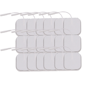 Image 2 - 100Pcs/lot 5*5cm 2mm Plug Reusable Self Adhesive Tens Electrode Pads For Nerve Muscle Stimulator Digital Physiotherapy Massager