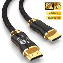 8K HDMI uyumlu kablo @ 60Hz 4K @ 120Hz Ultra yüksek hızlı 48Gbps apple TV için PS4 8K TV dijital kabloları HDR10 + HDMI uyumlu 2.1
