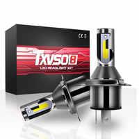 TXVSO8 H4 lumière LED ampoules COB puces 6000K blanc Bombilla LED brouillard phare Ampoule 55W Automotivo Lampada 12V Super Ampoule