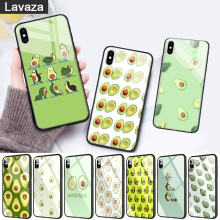 WEBBEDEPP Avocado fruit art Glass Phone Case for Apple iPhone 11 Pro X XS Max 6 6S 7 8 Plus 5 5S SE