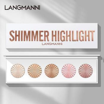 5 Highlighter Facial Bronzers Palette Makeup Glow Face Contour Shimmer Powder Illuminator Highlight Cosmetics Beauty Tools TSLM1