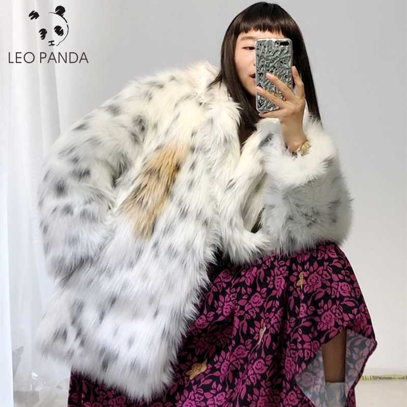 Thicken Leopard Women Jacket Mid-Long Faux Fur Coat Women Slim Casual Luipaard Fur Jackets Female Harajuku New 2019