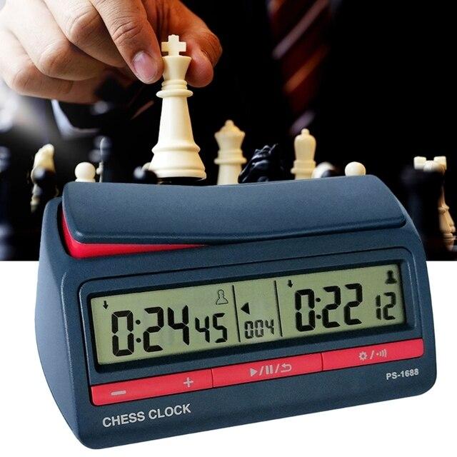 Horloge d'échecs avancée minuterie numérique compte à rebours horloge de jeu de société 4