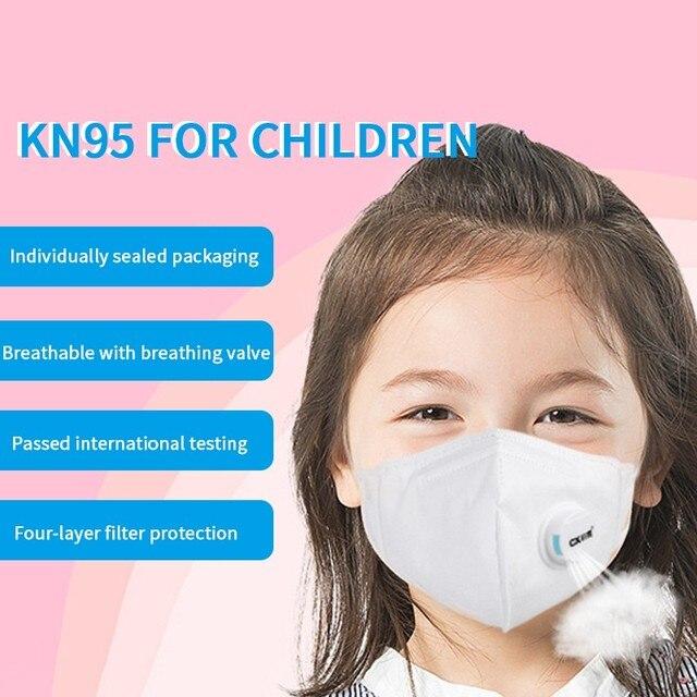 10pcs Kids Respirator Mask FFP3 Mask Mascarilla FFP2 Face Mask N95 Breathing Valve Antivirus Masks Anti Dust Flu Anti Haze Mask 5