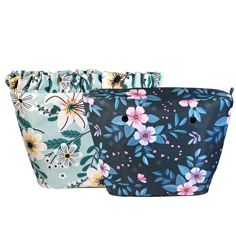 Цветочный край внутренняя подкладка вставка карман на молнии для obag Классические мини вставки аксессуары Органайзер стандартная сумочка