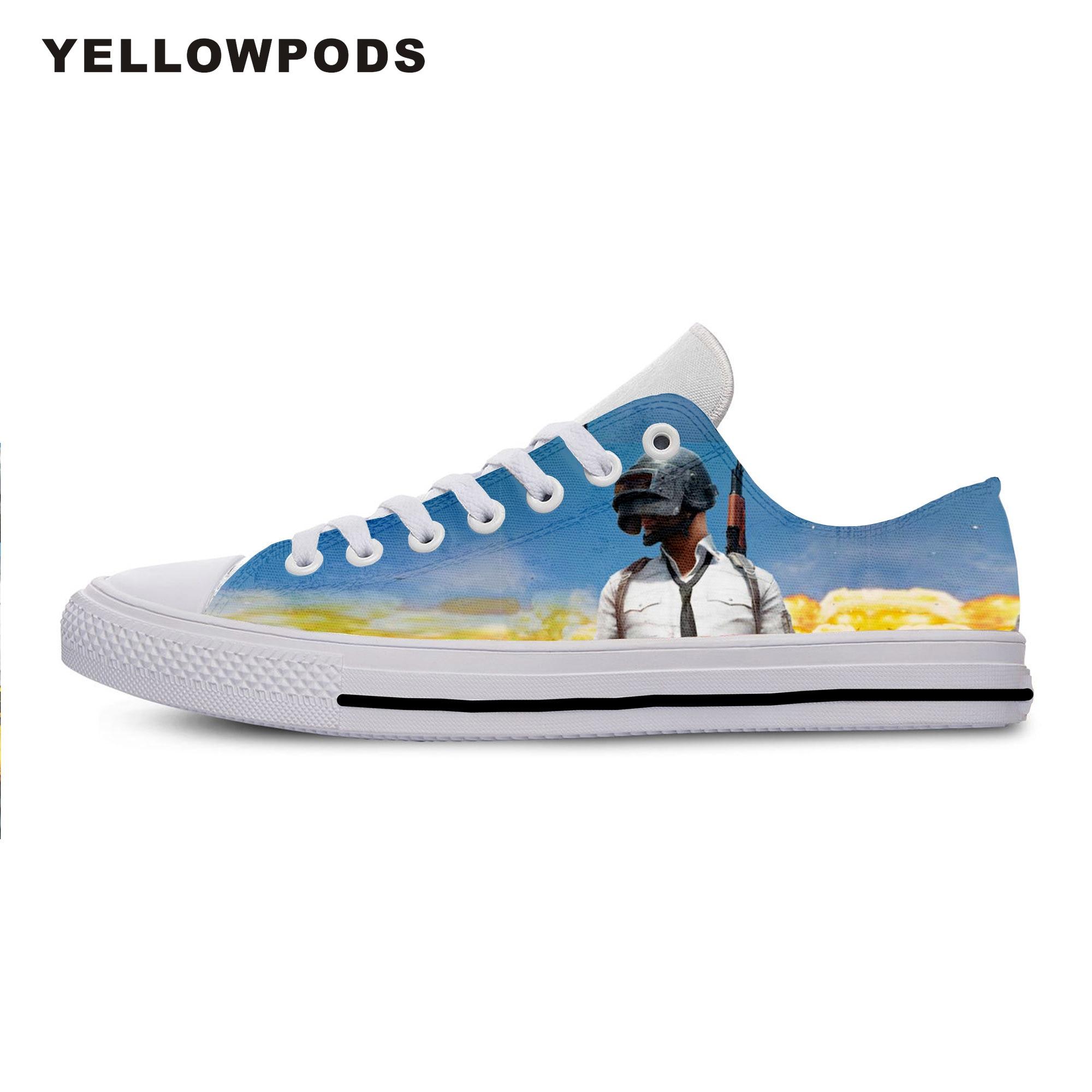 Мужская повседневная обувь; Лидер продаж; Неизвестная обувь на поле битвы; Высокое качество; Harajukuing PUBG Man; Не кожаная обувь; Белые мужские туф...
