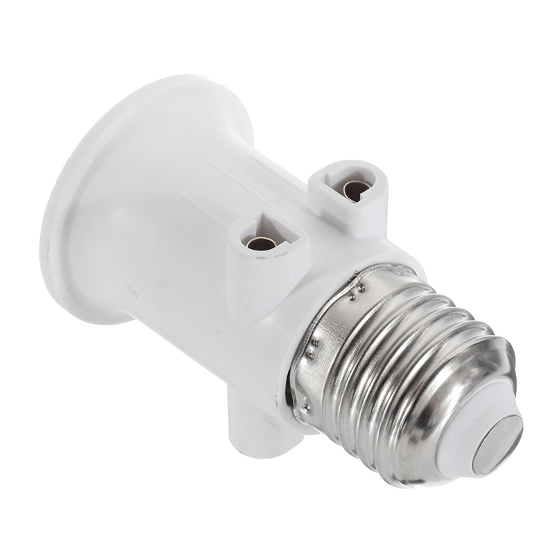 AC100-240V 4A E27 ABS EU Plug Connector Accessories LED Bulb Adapter Lamp Holder Base Screw Light Socket Conversion For Lights