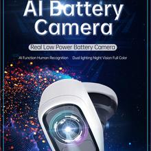 Batterie intelligente caméra IP Cloud stockage 1080p sans fil sécurité CCTV avec AI à l'intérieur IP65 étanche extérieur PIR APP alarme Push