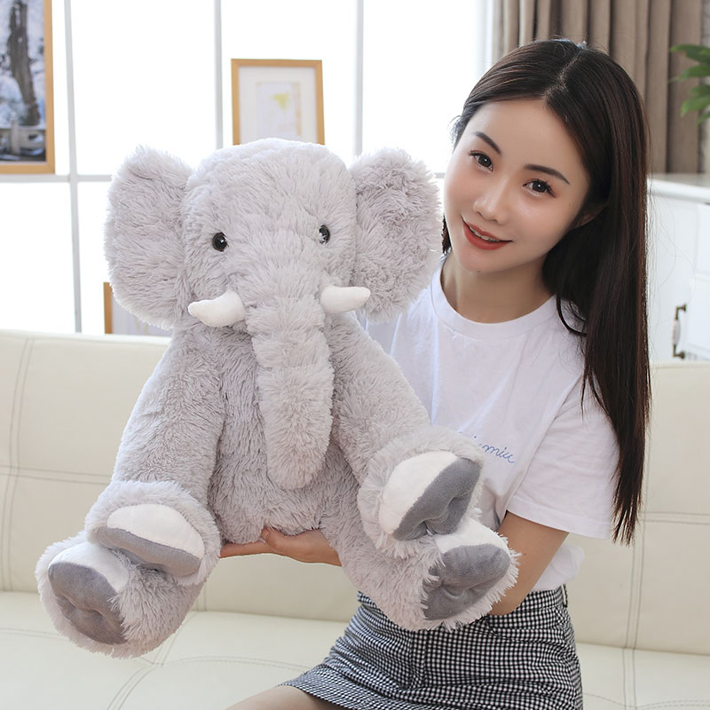 Dropshipping New 50cm Appease Elephant Pillow Soft Sleeping Stuffed Animals Plush Toys Baby Playmate Gifts For Children