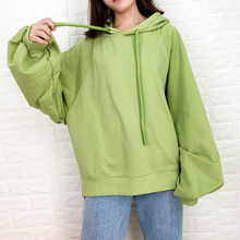 style korean sweatshirts Loose  suit female 2019 new tide hooded solid color casual long-sleeved cotton