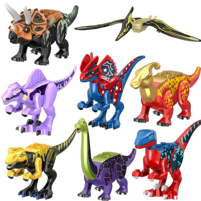 Конструктор Динозавр мир, детские сборные игрушки, кирпичи, игрушка-динозавр, Птерозавр, трицератопс, фигурки, модель, игрушка для мальчика, ...