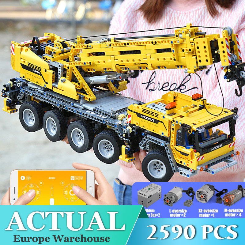 Mould King 13107 Technic Series <font><b>42009</b></font> Motor Power Mobile Crane Mk II Model Kits Model Building Blocks Bricks Toys Gifts image