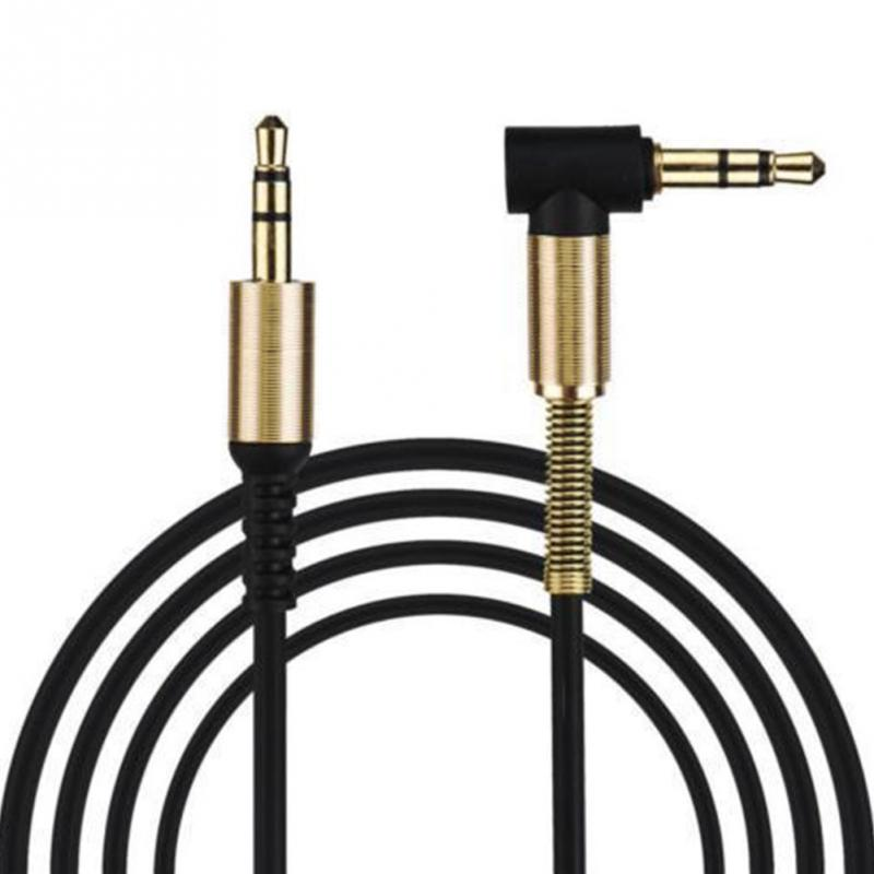 Hot Sell Audio Cable Wire Gold Plating 3.5mm Male To Male Car Aux Auxiliary  Jack Stereo Audio Cable For IPod Phone MP3
