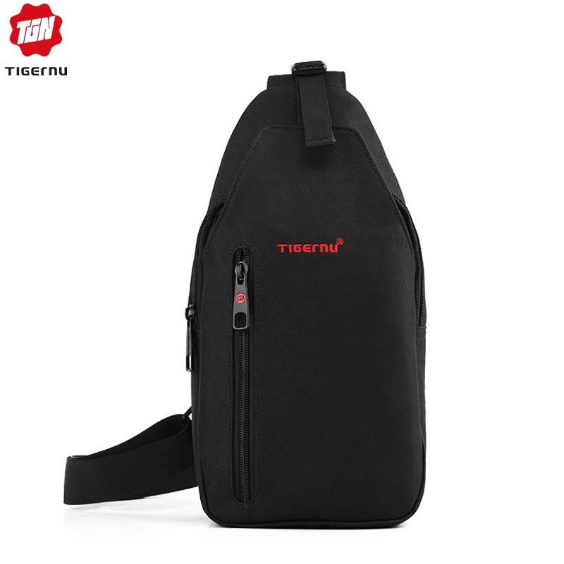 2020 Tigernu Men Crossbody Bag Splashproof  Brand Messenger Bag Mini Ipad Mobile  Money Phone Belt  Chest Bag  Small Chest Bag